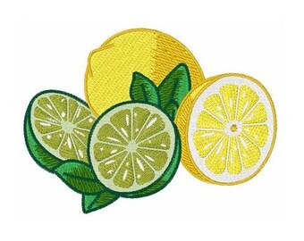 Lemon And Lime - Machine Embroidery Design