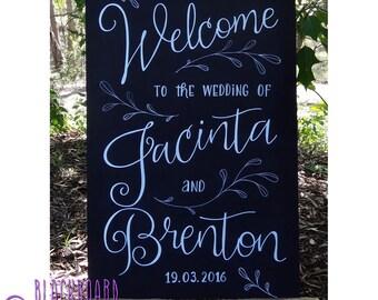 Wedding Engagement Welcome Chalkboard