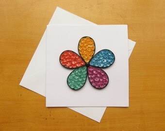 Quilled Greeting Card, Greeting Cards, Quilled Cards, Beehive Quilling, Flower Cards, Quilled Flowers