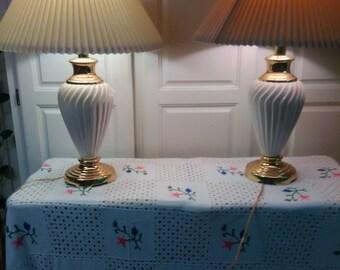 Vintage 90s Lamps Pair