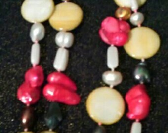 Extra Long Multicolor Shell Necklace