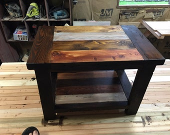 Rustic Farmhouse End Table