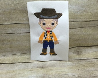 Woody From Toy Story Embroidery Design, Woody Embroidery Design