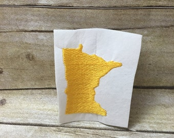 Minnesota Embroidery Design, Minnesota Embroidey Design Filled In