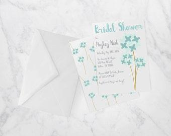 Blue Dandelion Shower Invite