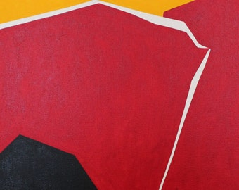 Red, Yellow, and Black Abstract