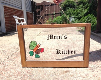 Hand Painted Vintage Window Kitchen