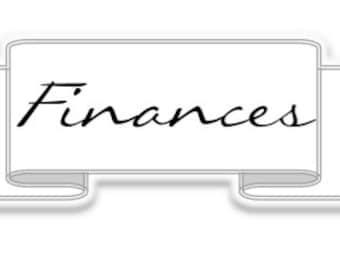 Finances label - Simple Collection