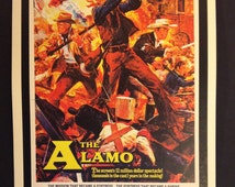 "The Alamo Movie Poster 12""x18"" // John Wayne // Western // 1960 // Epic Film // Davy Crockett  // Don't Mess with Texas // Actually take it."