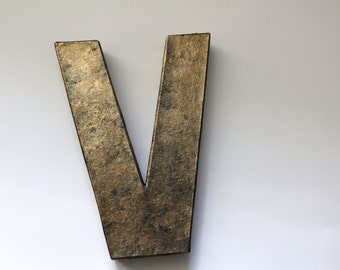 Bronze Letters, Bronze Anniversary, Bronze gift for him, Wedding Props, Baby Boy Nursery, Gallery Wall, Rustic Letters, Metal Letters