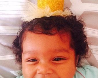 Glittered Crown Tutu