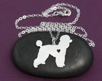 Poodle Dog Pendant Necklace