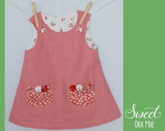 The Lila - girls size 2 sundress, a-line, vintage, handmade