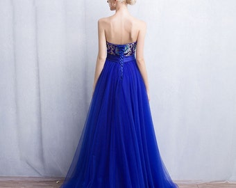 Bule evening dress