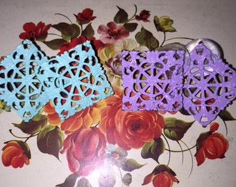 Purple & Turquoise Earrings (both)