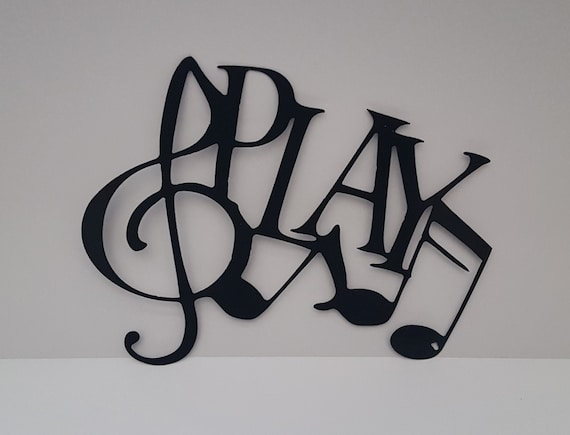 Play Metal Wall Decoration With Music Notes By