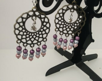 Star earrings and beads