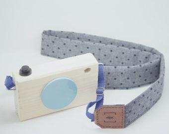 GRAY DOTS camera strap