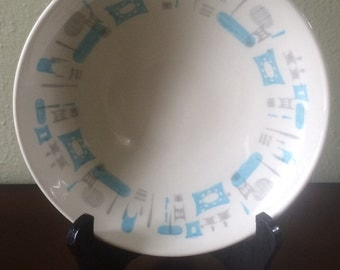 Vintage Royal China Blue Heaven Coupe Soup Bowl