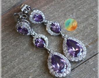 Amethyst Earrings, February Birthstone Earrings, Amethyst Stud Earrings, Sterling Silver Earrings, Purple Gemstone Earrings,Amethyst Jewelry