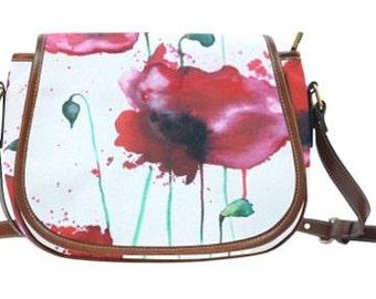 Poppies Saddle Bag