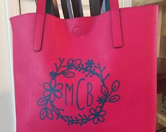 Custom Monogram Reversible Tote Bag