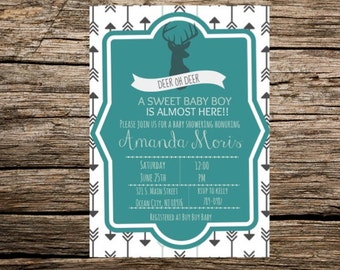 Deer oh Deer Baby Shower Printable