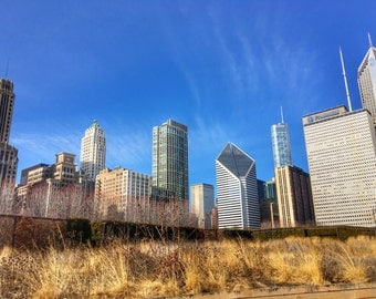 Chicago Skyline, Fall in Chicago, Skyscrapers, Chicago Photography, City Photography, Chicago Wall Art