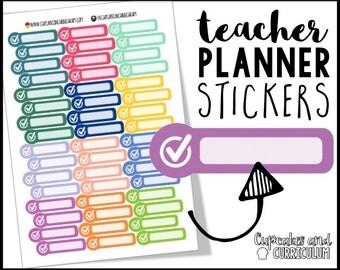 Teacher Planner Stickers, Check mark, tasks, to-do, Erin Condren Stickers