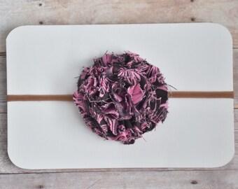 Chocolate Pink Pom Headband