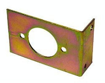 L-bracket for a stand alone Amphenol socket or plug on Hammond Organs by BB Organ