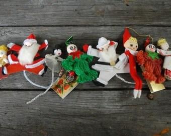 Homemade Vintage Christmas ornaments,vintage handmade Christmas ornaments