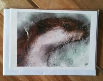 Greeting card - otter