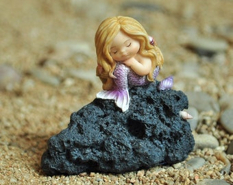 Miniature Dollhouse FAIRY GARDEN ~ Little Mermaid in Thought  ~ NEW