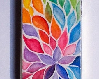 iPhone 4/4S Case/Cover - Floral Colorful Watercolor, Phone Case