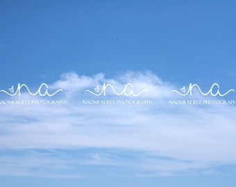 Blue Sky Clouds Stock Photo Digital Download