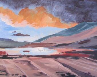 East Kootenay Lake Original painting