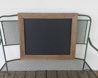 Magnetic Chalkboard with Rustic Barnwood Frame