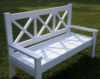 X-style large porch bench