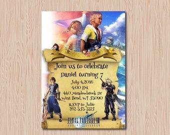 Final Fantasy Birthday Party Invitation Printable