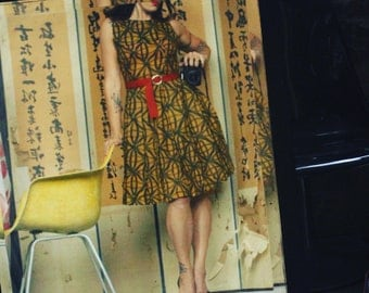 Late 50s mustard swing dress