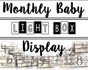 Monthly Baby Light Box Display
