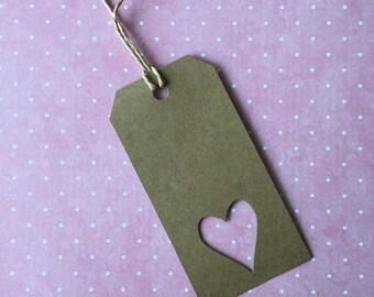 Heart Gift Tags - Kraft - 5 pack