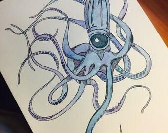 9 x 12 Original Squid
