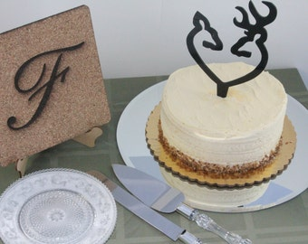 Buck and Doe Cake Topper