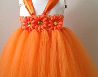 Orange Tutu Dress