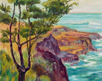 Mid century California Coastal Scene
