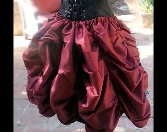 SHORT Steampunk Victorian Taffeta MINI Bustle Skirt Costume for Cosplay Halloween
