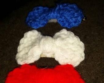 hand made crochet hair bow