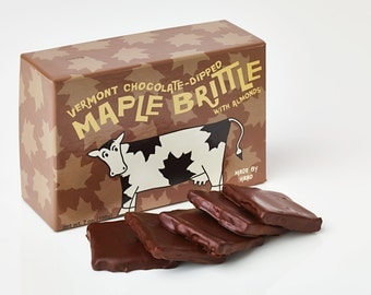 Vermont Maple Almond Brittle (Chocolate-Dipped)